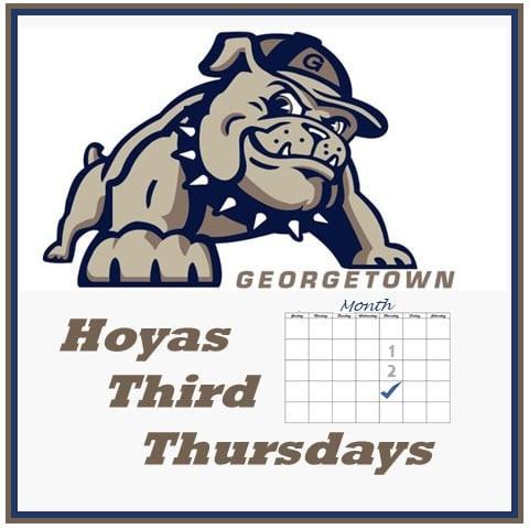 Jack the Bulldog, Hoyas Third Thursdays