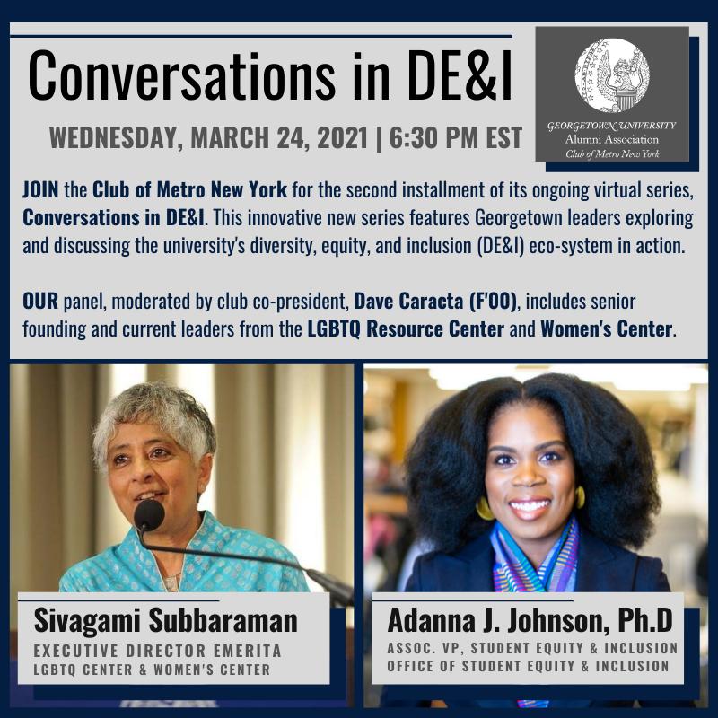 Conversations in DE&I graphic