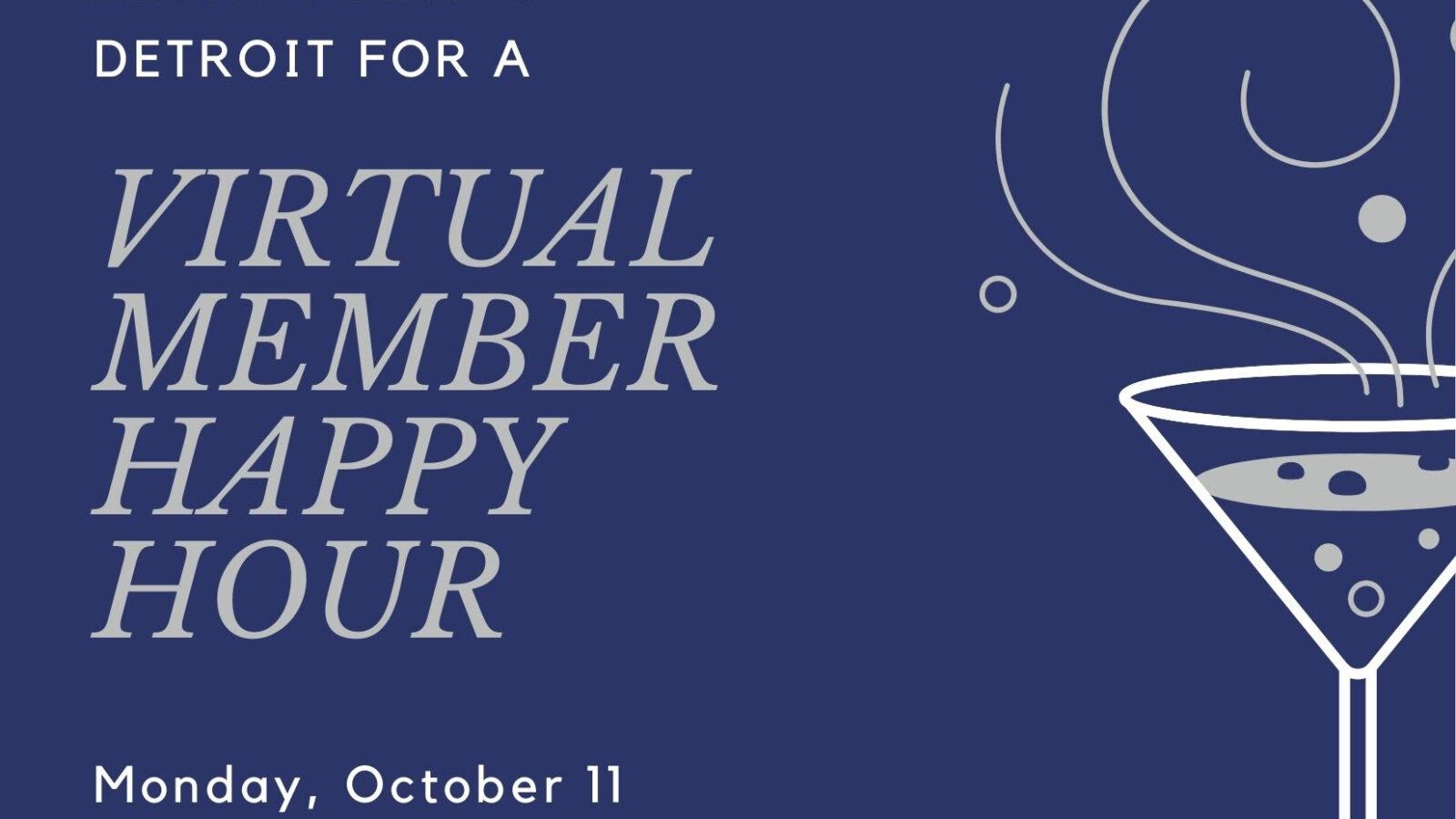 Virtual Member Happy Hour Invitation